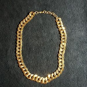 "Vintage Monet 18"" gold-tone chunky curb chain"
